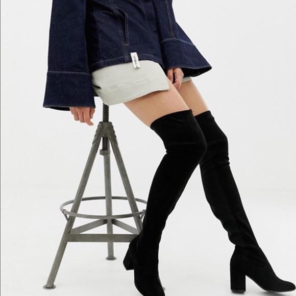 7d49681bb53 ASOS DESIGN Tall Kadi heeled over the knee boots
